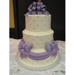 Свадебный торт Фиолетовый бант: заказать, доставка