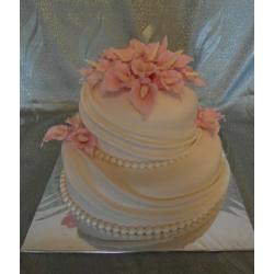 Свадебный торт Розовые каллы: заказать, доставка