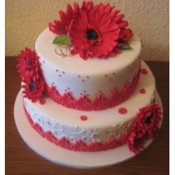 Свадебный торт Красные герберы: заказать, доставка