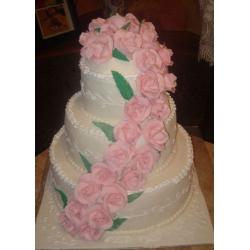 Свадебный торт Аромат розы: заказать, доставка