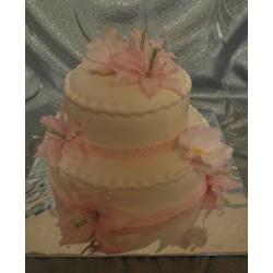 Свадебный торт Розовые лилии: заказать, доставка