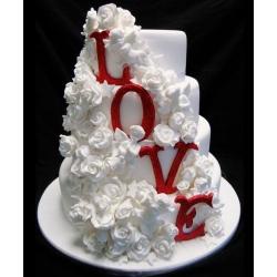 Свадебный торт LOVE: заказать, доставка