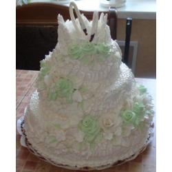 Свадебный торт Фисташковая роза: заказать, доставка