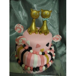 Свадебный торт Золотые коты: заказать, доставка