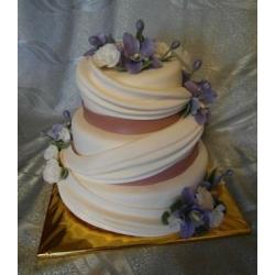 Свадебный торт Весенние цветы: заказать, доставка