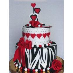 Свадебный торт Зебра: заказать, доставка