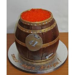 Торт на заказ Бочонок икры