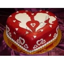 Торт сердце для любимой