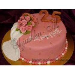 Тортик с букетом роз