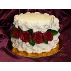 Торт шкатулка с розами