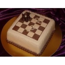 Торт на юбилей свадьбы. Шахматы