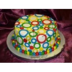 Торт яркий