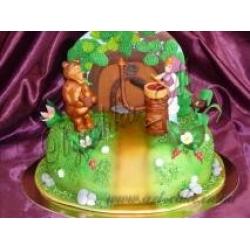 Торт Маша и Медведь День варенья: заказать, доставка