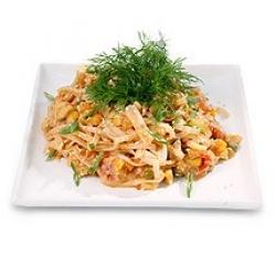 Рисовая лапша с овощами постная
